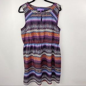 Jolie colorful tribal print dress sleeveless